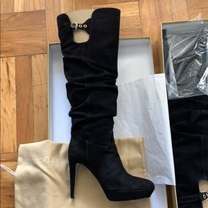 Sergio Rossi suede knee high Boots